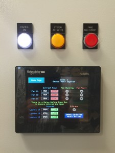 Smoke Vent System Contol Panel With Buttons