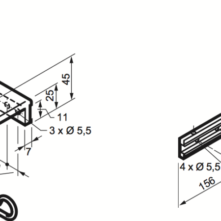 Bottom-Hinged Fixing Kit For Micro XL
