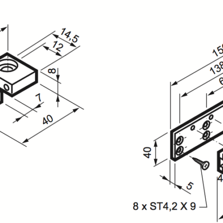 Top-Hinged Fixing Kit For Micro XL